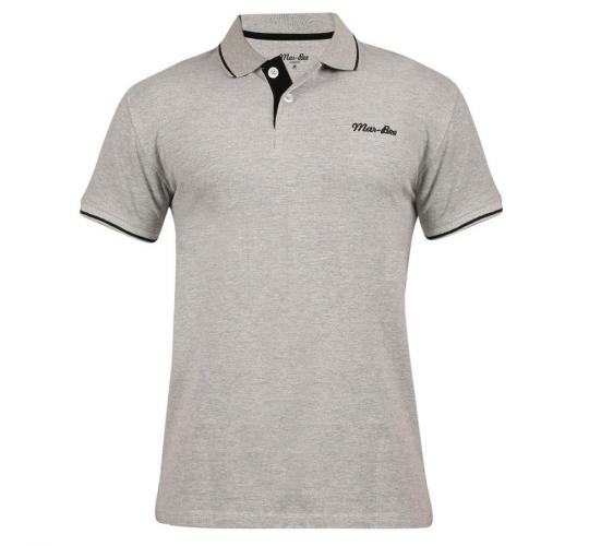 Wholesale Joblot of 10 Mar-Bee London Mens Tipped Polo Shirts Grey M & L