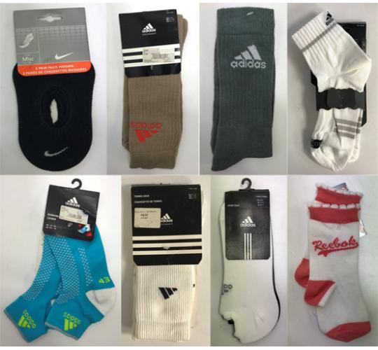 One Off Joblot of 19 Mixed Branded Socks - Adidas, Nike, Reebok