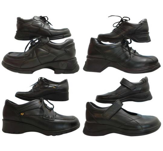 One Off Joblot of 7 Start Rite Miss Rhino Womens Black Leather Shoes Size 1.5-8