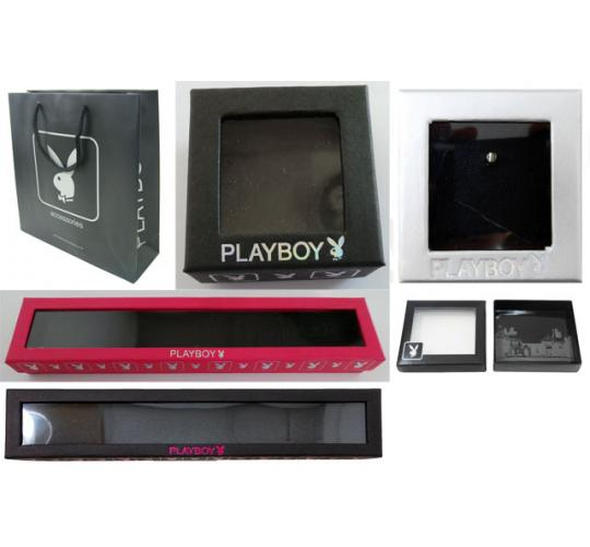 Pallet of 11,500 Mixed Playboy Jewellery Boxes/Bags