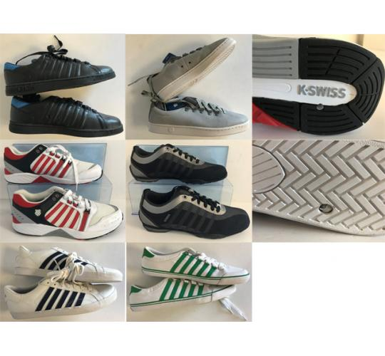 One Off Joblot of 15 K-Swiss Mens Shoes - Mixed Styles - Sample Pieces
