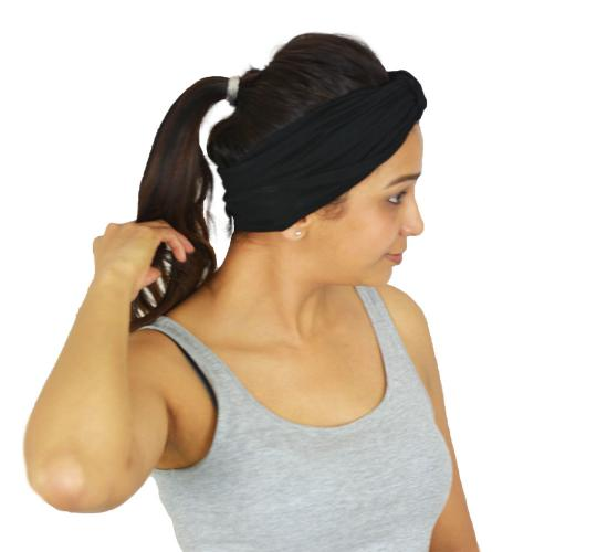 Sports Headbands For Women, Non Slip Sweat Wicking Cotton Bandana For Workout Running Yoga Pilates