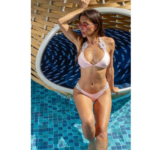 20 High Quality Baby Pink Bikinis with Crystal Accessories