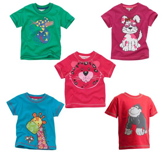 Wholesale Job Lot of Kids Novelty AnimalTee Shirts