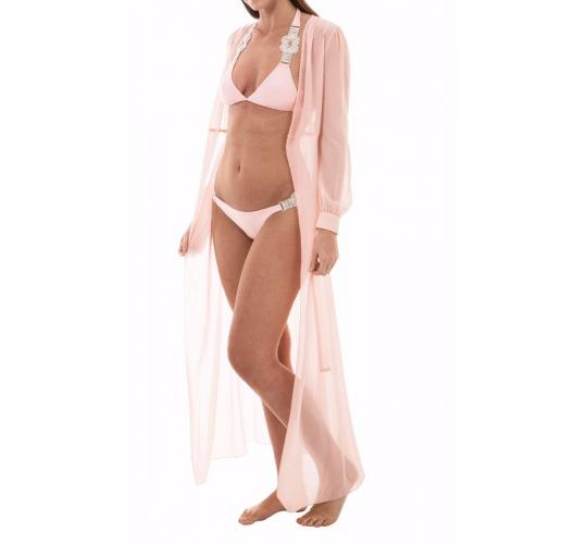 HIGH QUALITY BLUSH PINK LONG SLEEVE KAFTAN