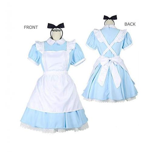 One Off Joblot of 16 Alice's Wonderland Fancy Dress Set Apron Blue