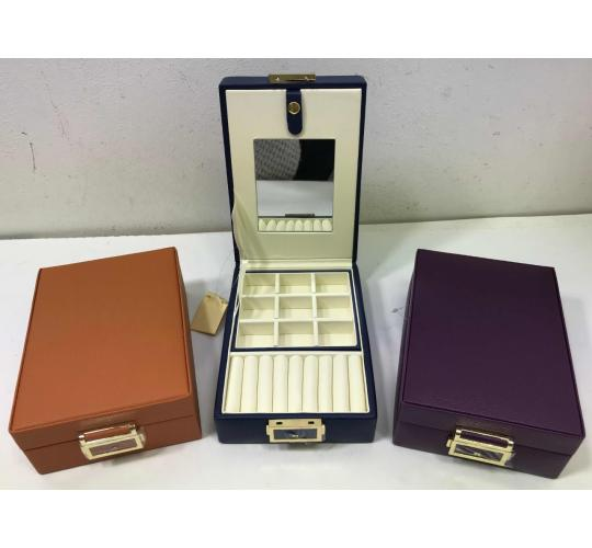 Wholesale Joblot Of 20 Faux Leather Jewellery Boxes In 3 Colours