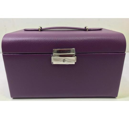 Wholesale Joblot Of 20 Faux Leather Purple Jewellery Boxes With Handles