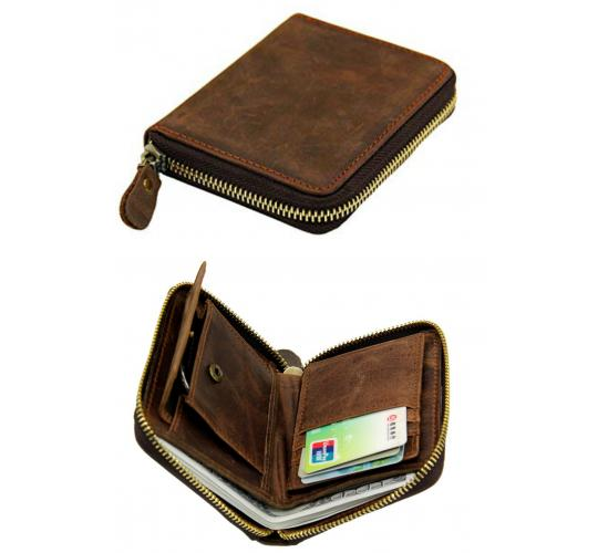 Wholesale Joblot of 20 Levelive Men's Vintage Genuine Cowhide Leather Wallet