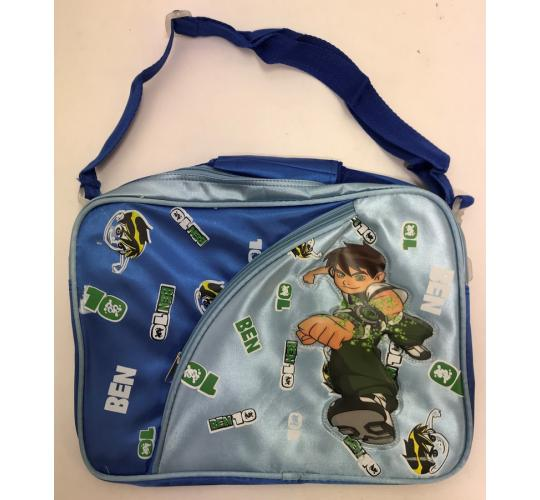 One Off Joblot of 31 Ben 10 Childrens Messenger Bag with Front Zip Pocket