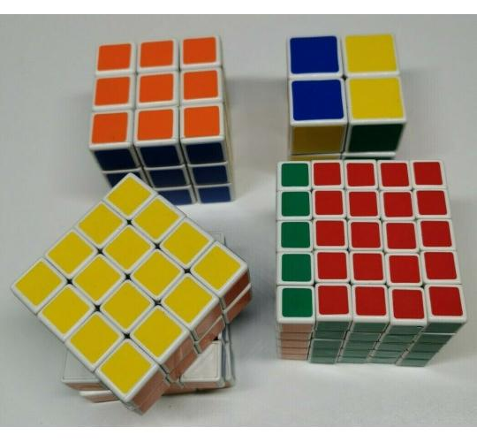 Wholesale Joblot Of 5 Mutipacks Of 4 Rubik's Cubes 2-5sq Brain Teaser Toys