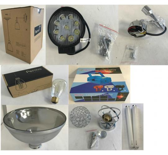 One Off Joblot of 18 Mixed Lighting Stock - Permo, Pathson, Reelva & More