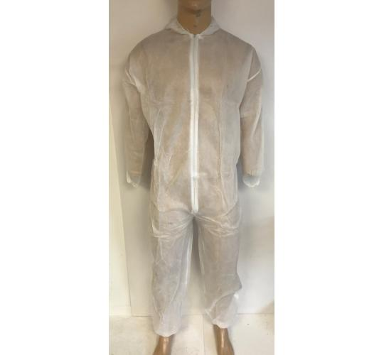 Wholesale Joblot of 100 P-Prop Disposable Boiler Suit in White Sizes M-XXL