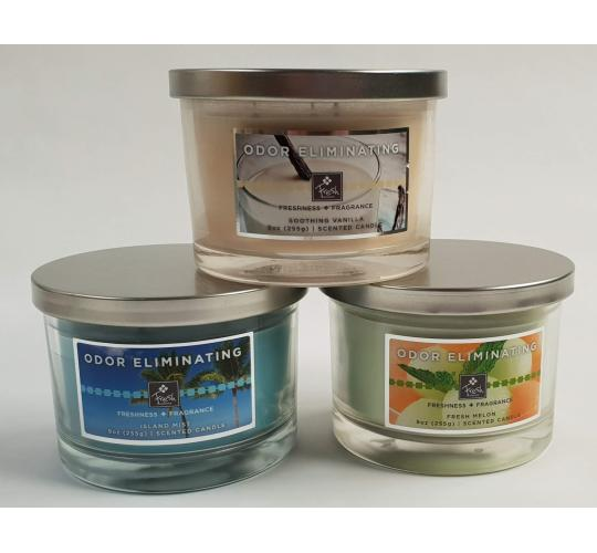 Candle 9oz Odour Eliminator Triple Wick Scented Candles Pack of 12 Mixed Scents