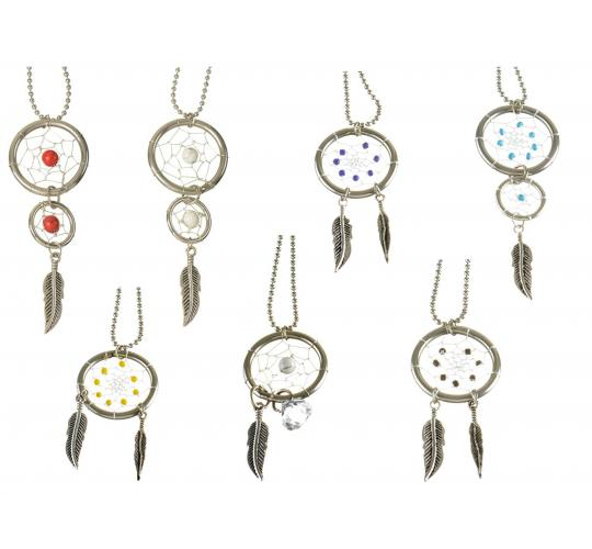 Wholesale Joblot Of 19 Stainless Steel Feather Dreamcatcher Necklaces
