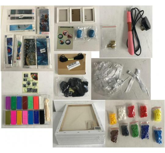 Joblot of 44 Mixed Arts & Crafts Stock - Polymer Clay, Handprints, Picture Sets