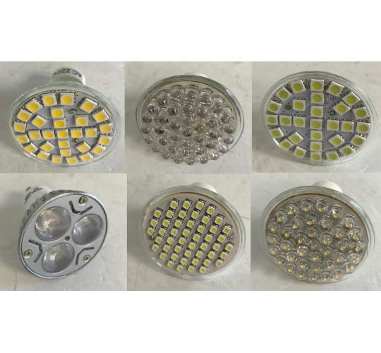 One Off Joblot of 184 Unmarked Ceiling Replacement Light Bulbs Mixed Designs