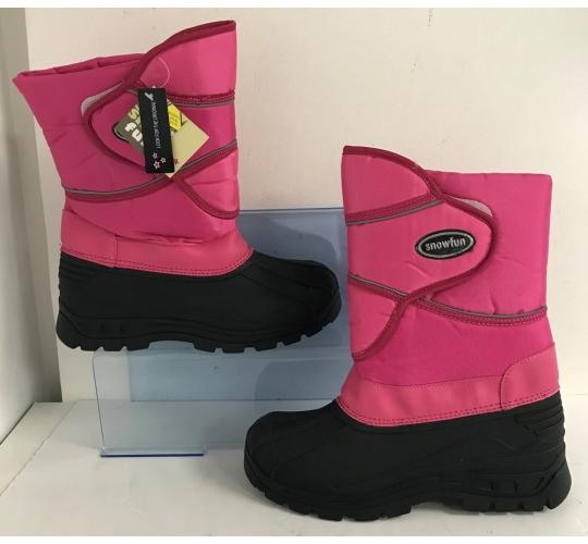 One Off Joblot of 12 Snow Fun Ladies Synthetic-Wool Lined Winter Boots Sizes 3-7