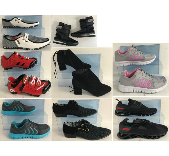 One Off Joblot of 26 Mixed Pairs of Shoes - Trainers, Boots, Cycling Shoes