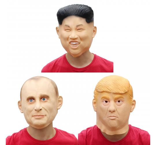 30 Latex Masks Donald Trump Kim Jong Un Putin