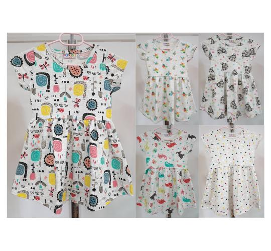 Job Lots of 20 Pcs High Quality Girls Dresses / 5 Designs