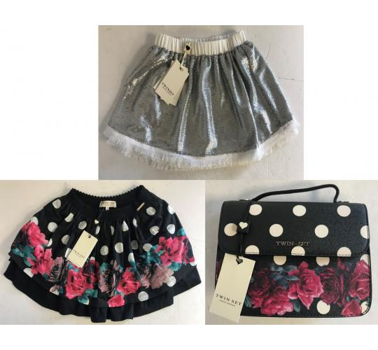 One Off Joblot of 6 Twinset Girls Skirts in 2 Styles & 1 Handbag