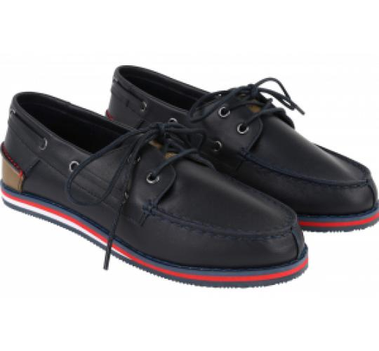 Wholesale Joblot of 4 Hugo Boss Boys Leather Boat Shoe Navy J29116
