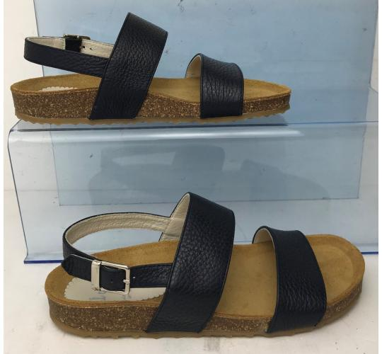 Wholesale Joblot of 3 IL Gufo Girls Leather Sandals with Buckle Dark Navy