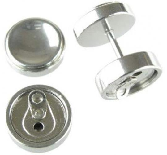 Joblot Of 30 Pairs Of Silver Coke Drink Can Stainless Steel Faux Plug Earrings