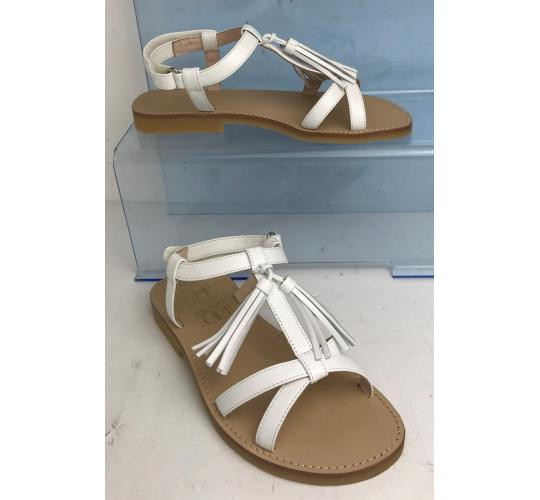 One Off Joblot of 4 IL Gufo Girls White Tassel Leather Summer Shoe Mixed Sizes