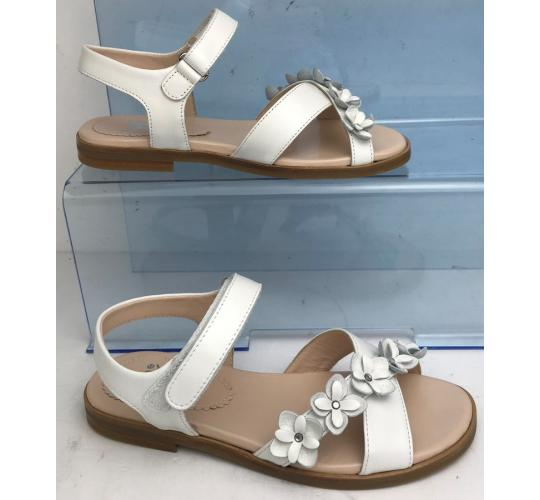 Wholesale Joblot of 3 IL Gufo Girls White Leather Floral Sandals G637