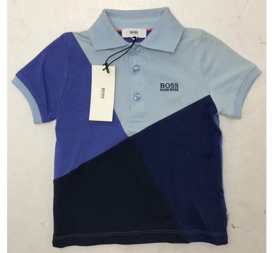 One Off Joblot of 6 Hugo Boss Boys Multi-Blue Polo Shirts Range of Sizes
