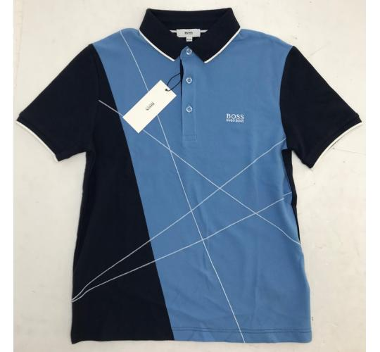 One Off Joblot of 4 Hugo Boss Boys Multi-Blue Polo Shirt with Stripe Sizes 10-16