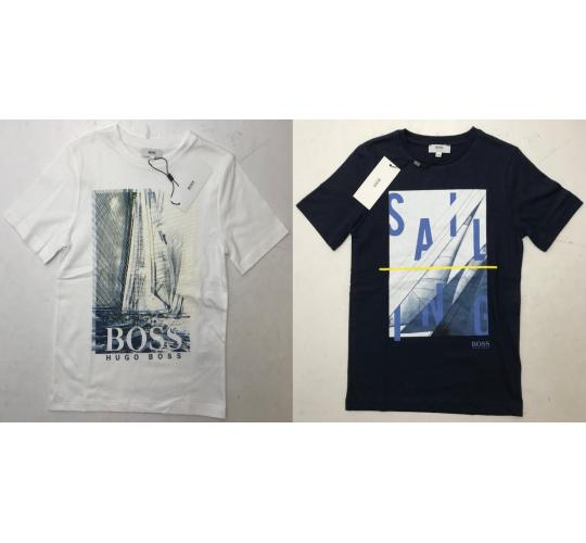 One Off Joblot of 8 Hugo Boss Boys Sailing Print T-Shirts Mixed Sizes