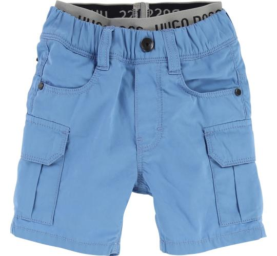 One Off Joblot of 5 Hugo Boss Toddlers Blue Cargo Shorts J04307