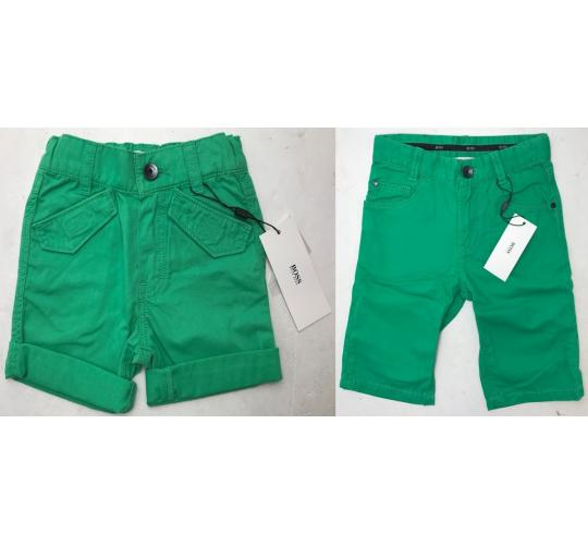 One Off Joblot of 5 Hugo Boss Boys Green Shorts in 2 Styles Mixed Sizes