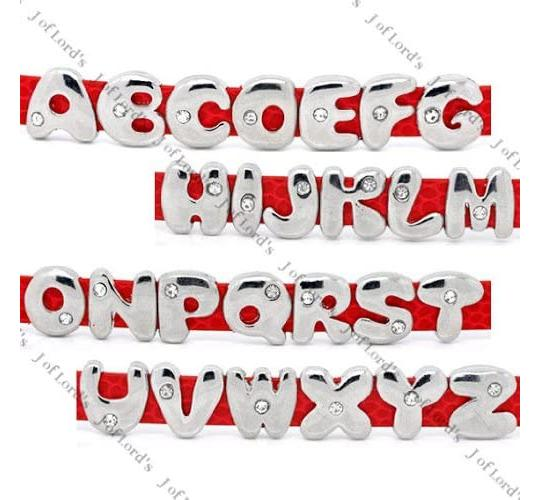 Wholesale Joblot Of 200 Alphabet A-Z Charms For Watch Strap Bracelets