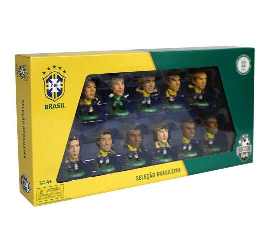 50 Packs Collectable Retro SoccerStarz Brazil Team 11 Figure Pack World Cup 2014