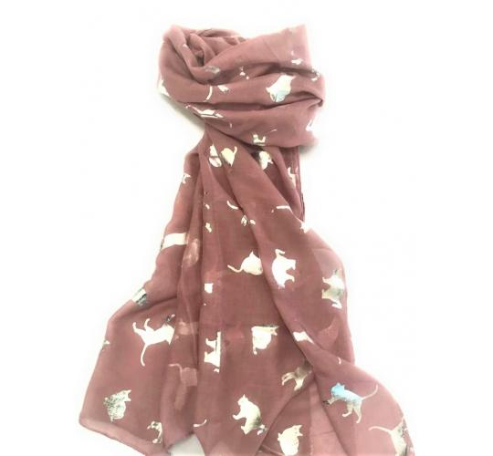 Foil Cat Scarf 120 pcs assorted colors