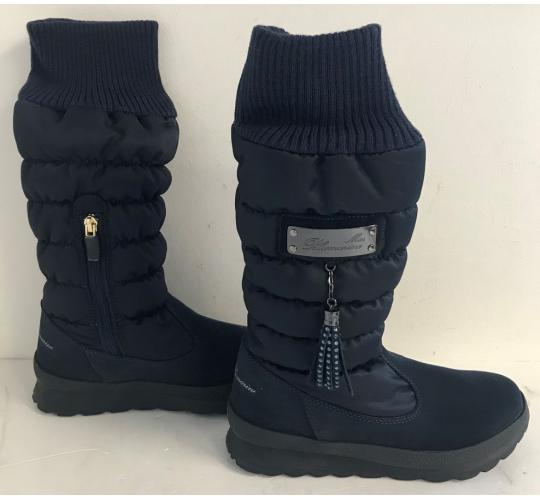 One Off Joblot of 4 Miss Blumarine Girls Padded Boots with Tassel Navy