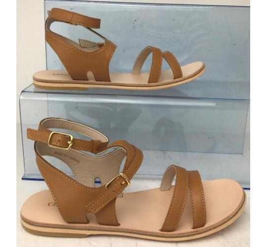 One Off Joblot of 4 Chloe Girls Brown Leather Strap Sandals Sizes 13 - 2.5
