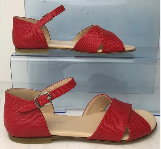 Wholesale Joblot of 7 Ermanno Scervino Girls Red Textured Leather Sandals