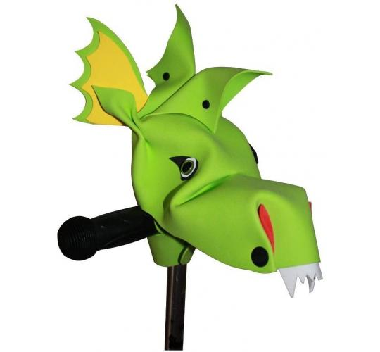 Handlebar Heroes - Green Dragonaasur - Cool Children's Bike Accessories - 12 Units