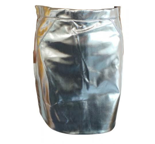 One Off Joblot of 100 Ex-High Street Silver Metallic Womens Skirts Sizes 6-16