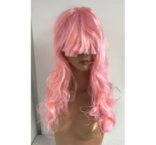 Wholesale Joblot of 20 Reelva Womens Light Pink Curly Hair Wig WIGC062