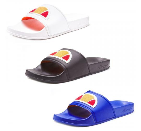 Men Ellesse Filippo BDG Beach Pool Slides Summer Sandals in Black, White, Blue x 5 pairs