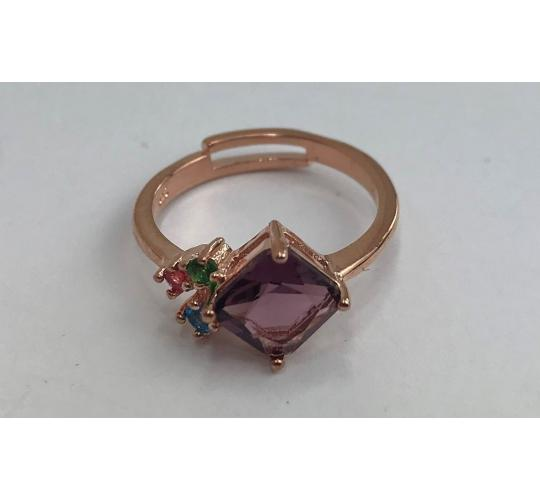 One Off Joblot of 10 Ladies Rose Gold Multi-Crystals Fashion Ring