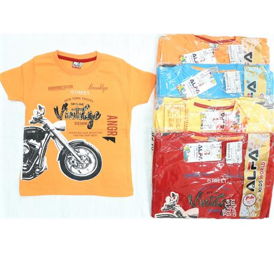 Brand New Joblot of 40x Boys Printed T-Shirts / 4 Colours