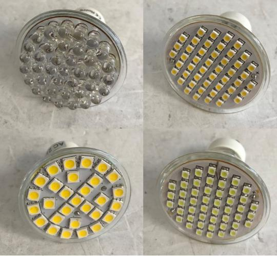 One Off Joblot of 352 Unmarked Ceiling Replacement Light Bulbs Mixed Designs