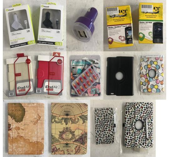 One Off Joblot of 259 Mixed Tablet/Mobile Phone Accessories - Cases & More
